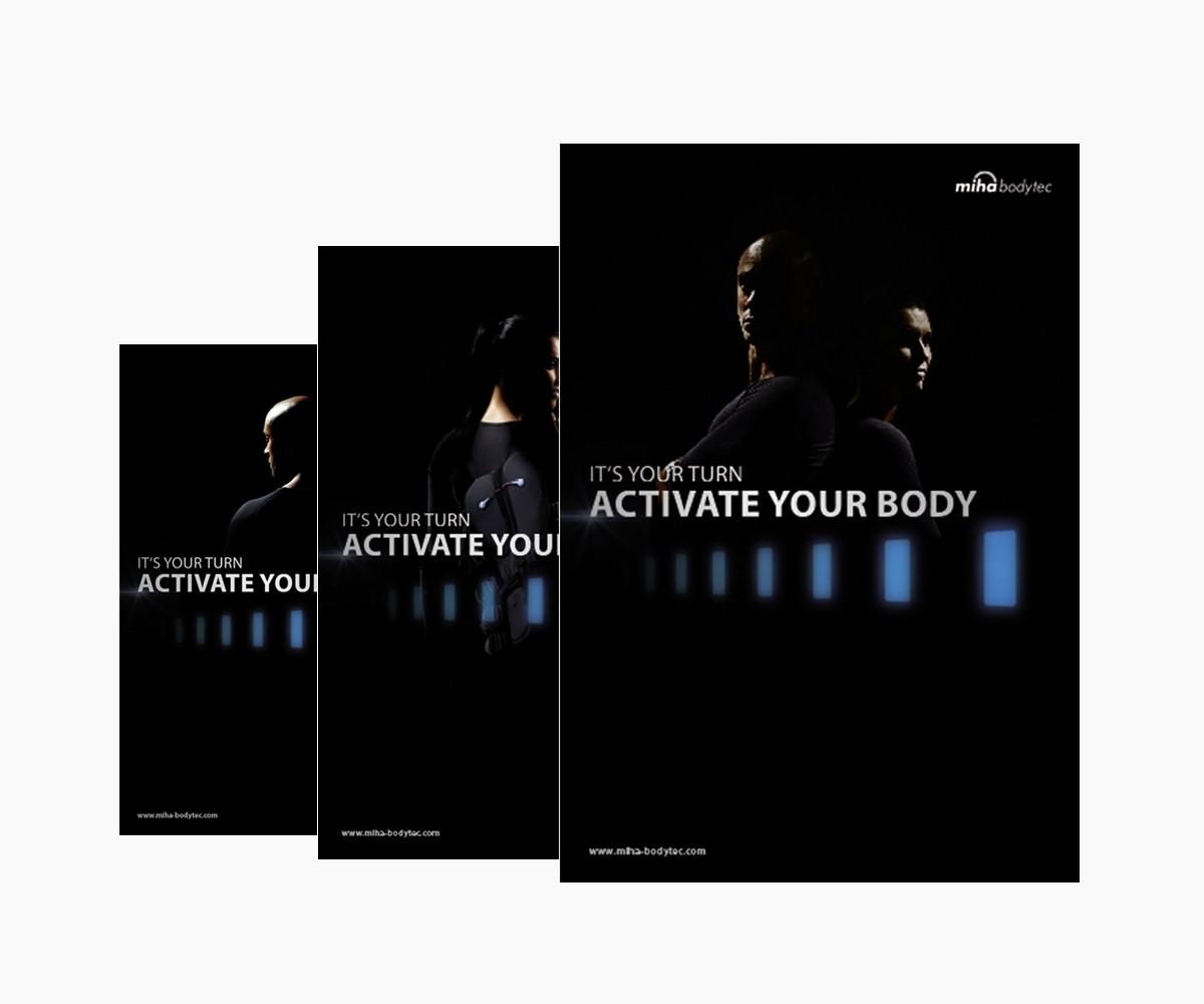 poster a1 activate your body 3er set werbemittel. Black Bedroom Furniture Sets. Home Design Ideas
