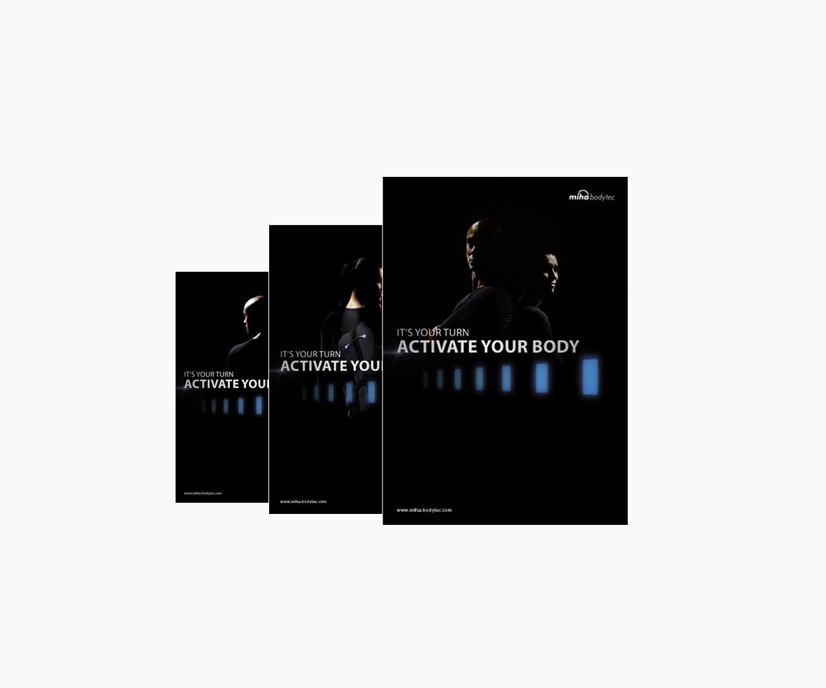 poster a4 activate your body 3er set werbemittel. Black Bedroom Furniture Sets. Home Design Ideas